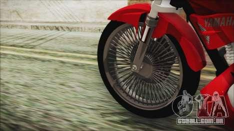 Yamaha YBR Tuning para GTA San Andreas traseira esquerda vista