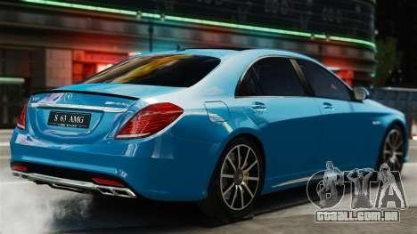 Mercedes-Benz S63 W222 AMG para GTA 4 traseira esquerda vista