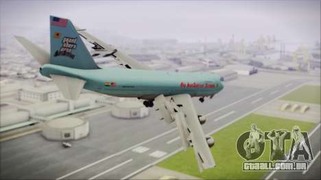 Boeing 747-100 Blue para GTA San Andreas esquerda vista