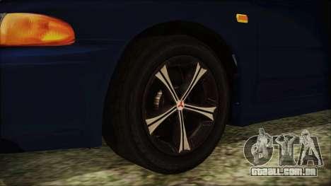 Mitsubishi Lancer 1998 para GTA San Andreas traseira esquerda vista