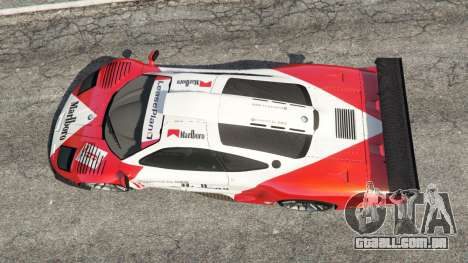 GTA 5 McLaren F1 GTR Longtail [Marlboro] voltar vista