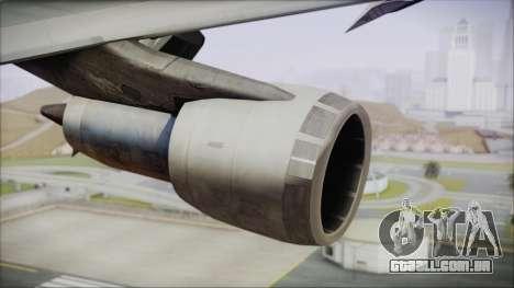 Boeing 747-100 Blue para GTA San Andreas vista direita