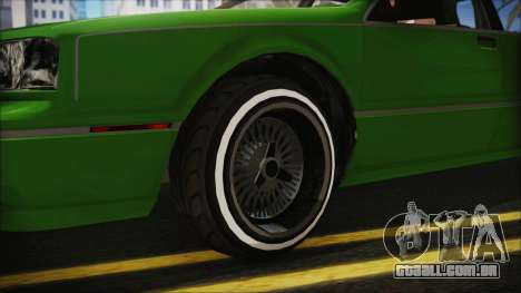 GTA 5 Albany Primo Custom No Interior IVF para GTA San Andreas traseira esquerda vista