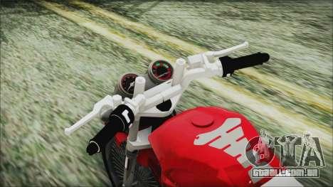 Yamaha YBR Tuning para GTA San Andreas vista traseira