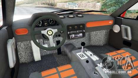 GTA 5 Ferrari 288 GTO 1984 traseira direita vista lateral