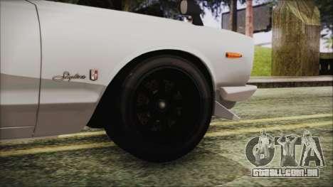 Nissan Skyline GT-R Hakosuka para GTA San Andreas traseira esquerda vista