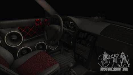 Lada 2170 Priora para GTA San Andreas vista direita