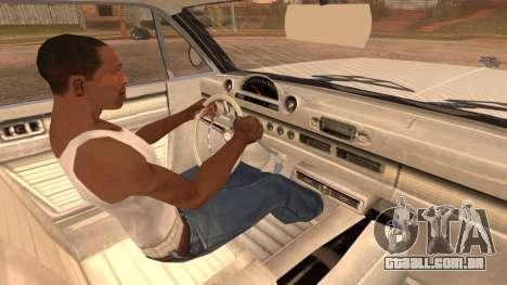 GTA 5 Declasse Clean Voodoo Hydra Version para GTA San Andreas traseira esquerda vista