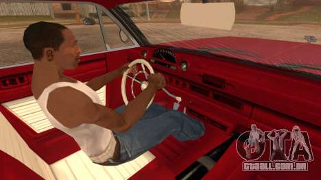 GTA 5 Declasse Clean Voodoo Bobble Version para GTA San Andreas traseira esquerda vista