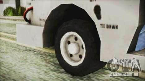 BF3 Push Car para GTA San Andreas traseira esquerda vista