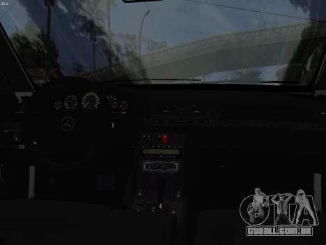 Mercedes-Benz E420 para GTA San Andreas vista interior