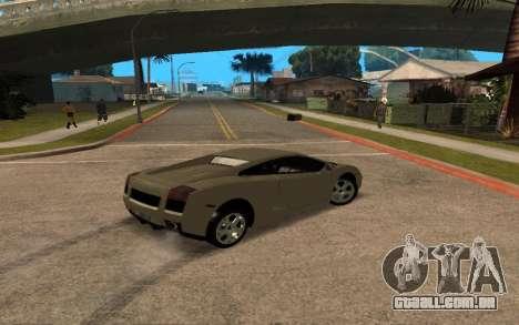 Lamborghini Gallardo Tunable v2 para GTA San Andreas vista superior