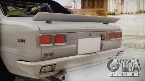 Nissan Skyline GT-R Hakosuka para GTA San Andreas vista traseira