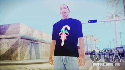 T-Shirt Cane Christmas para GTA San Andreas