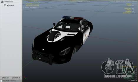 GTA 5 LAPD Mercedes-Benz AMG GT 2016 vista lateral direita