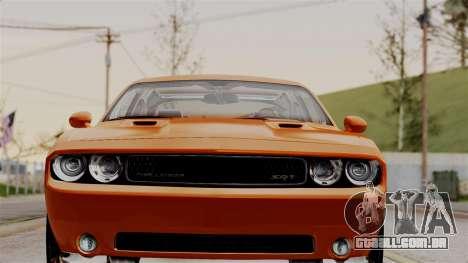 Dodge Challenger SRT-8 2010 para GTA San Andreas traseira esquerda vista