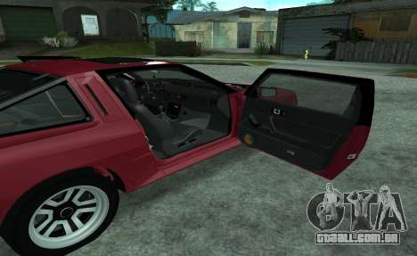Mitsubishi Starion ECI-R para vista lateral GTA San Andreas