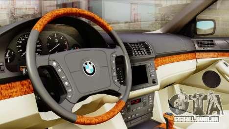 BMW 530D E39 2001 Stock para GTA San Andreas vista traseira