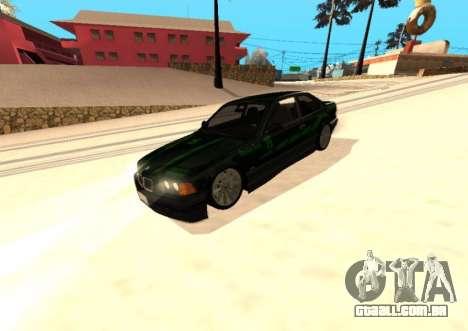 BMW E36 320i para GTA San Andreas vista interior