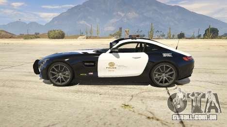 GTA 5 LAPD Mercedes-Benz AMG GT 2016 vista lateral esquerda