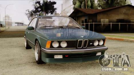 BMW M635 E24 CSi 1984 Stock para GTA San Andreas vista direita