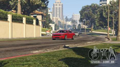 GTA 5 2015 Dodge Charger RT 1.4 voltar vista