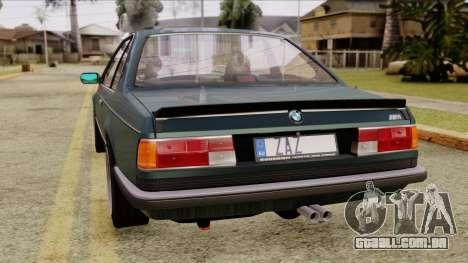 BMW M635 E24 CSi 1984 Stock para GTA San Andreas esquerda vista