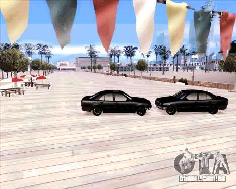 Mercedes Benz E-Class para GTA San Andreas vista traseira