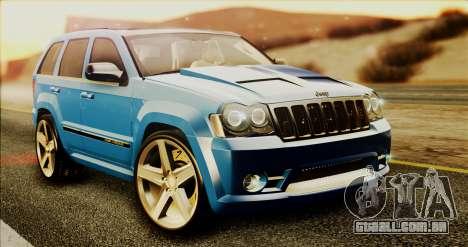Jeep Grand Cherokee SRT8 Final version para GTA San Andreas esquerda vista