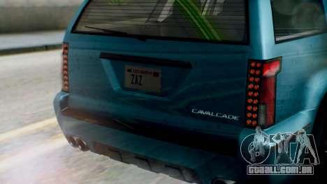 GTA 5 Albany Cavalcade II IVF para GTA San Andreas vista interior
