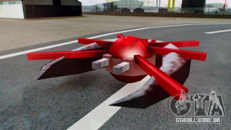 Alien Ship Red-Gray para GTA San Andreas vista direita