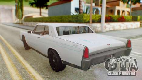 GTA 5 Vapid Chino Tunable PJ para GTA San Andreas vista interior
