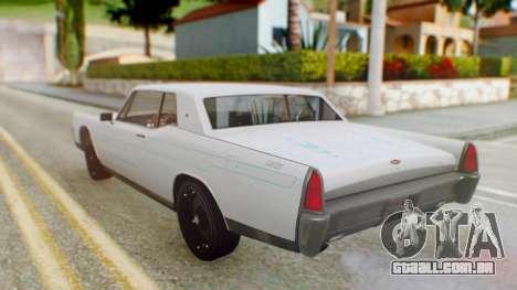 GTA 5 Vapid Chino Tunable PJ para GTA San Andreas vista interior