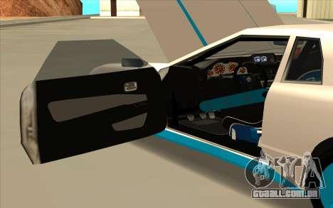 Elegy DRIFT KING GT-1 [2.0] (New wheels) para vista lateral GTA San Andreas