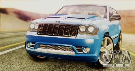Jeep Grand Cherokee SRT8 Final version para GTA San Andreas vista direita