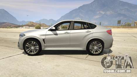 GTA 5 BMW X6M F16 Final vista lateral esquerda