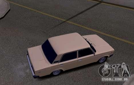 VAZ 2107 KBR para GTA San Andreas vista interior