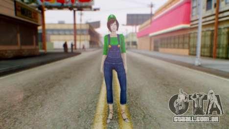 Fatal Frame 4 Misaki Luigi Clothes para GTA San Andreas segunda tela