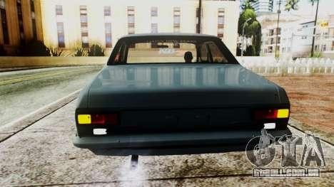 Ford Escort Mk1 para GTA San Andreas vista traseira