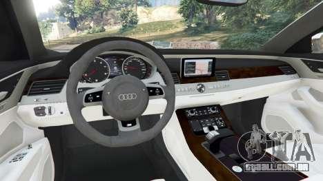 GTA 5 Audi S8 Quattro 2013 v1.2 traseira direita vista lateral