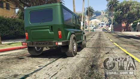 GTA 5 УАЗ 3159 Porpoising traseira direita vista lateral
