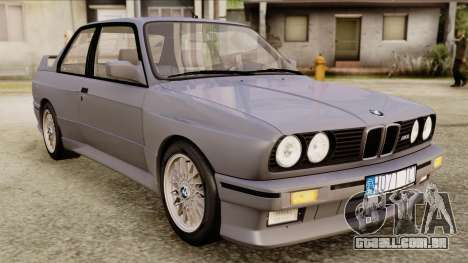 BMW M3 E30 1991 Stock para GTA San Andreas