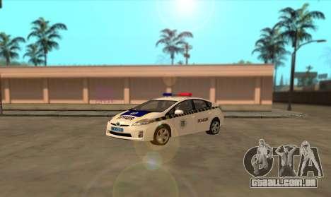 Toyota Prius Polícia Da Ucrânia para GTA San Andreas esquerda vista
