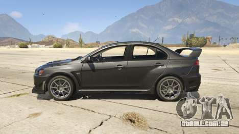 GTA 5 Mitsubishi Lancer Evolution X FQ-400 v2 vista lateral esquerda