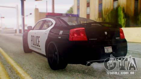 New Police SF para GTA San Andreas esquerda vista