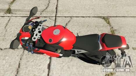 GTA 5 Honda CBR1000RR [Red] voltar vista