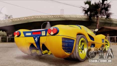 Ferrari P7 Gold para GTA San Andreas esquerda vista