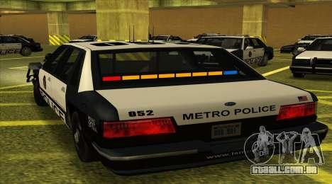 Police SF para GTA San Andreas esquerda vista