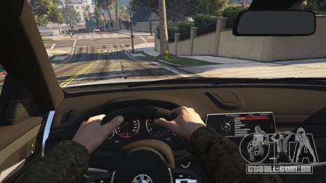 GTA 5 BMW X6M F16 Final traseira direita vista lateral