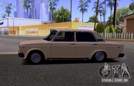 VAZ 2107 KBR para GTA San Andreas vista traseira
